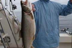 This Trophy Size Lake Trout was caught June 13th 2009 with a limit catch! Wow! what a beautiful fish! Come join us aboard the 40' Viking yachts and get your chance a trophy size Trout or Salmon! Call 262-945-8193 Today!